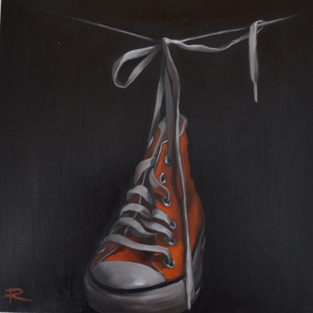 CONVERSE IX Oil on Board with Resin Finish 25cm x 25cm