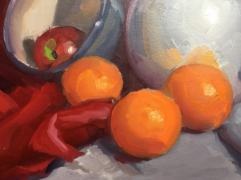 STILL LIFE WITH ORANGES (Detail)