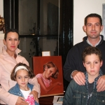 Watts Family with painting of Lily