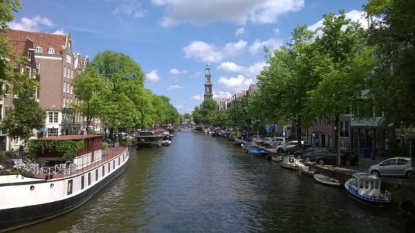 AmsterdamPrinsengracht. The Prinsengracht and the Westerkerk. Courtesy of Jennifer S. Alderson